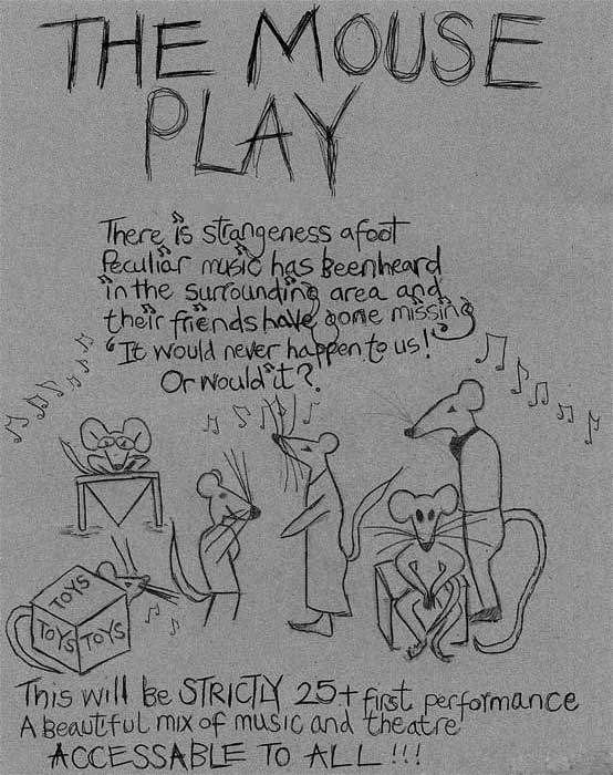 Poster for the upcoming StrictlyCollaborative performance of The Mouse Play.